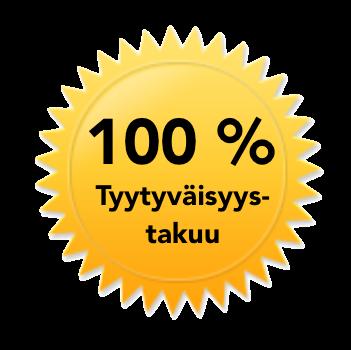 100 prosentin tyytyväisyystakuu