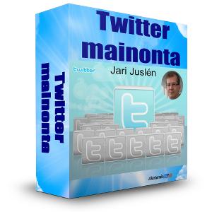 Twitter-mainonta -verkkokoulutus, kouluttajana Jari Juslén