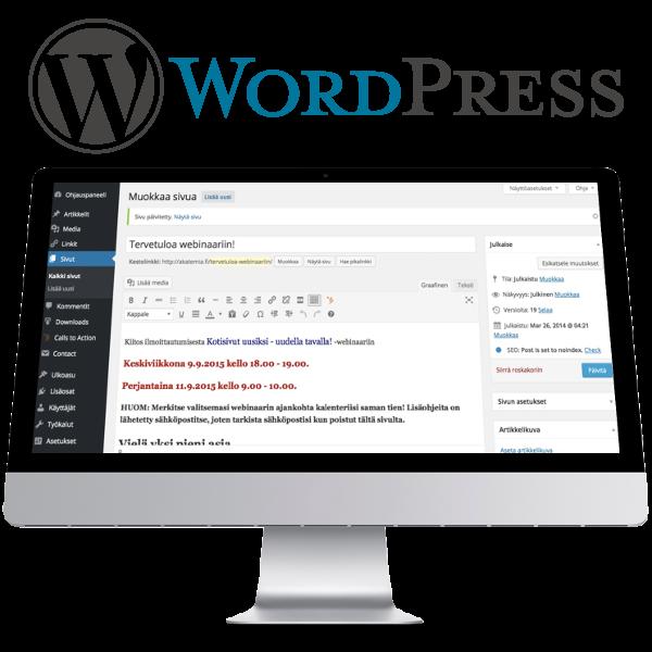 WordPress-koulutus sisällöntuottajille