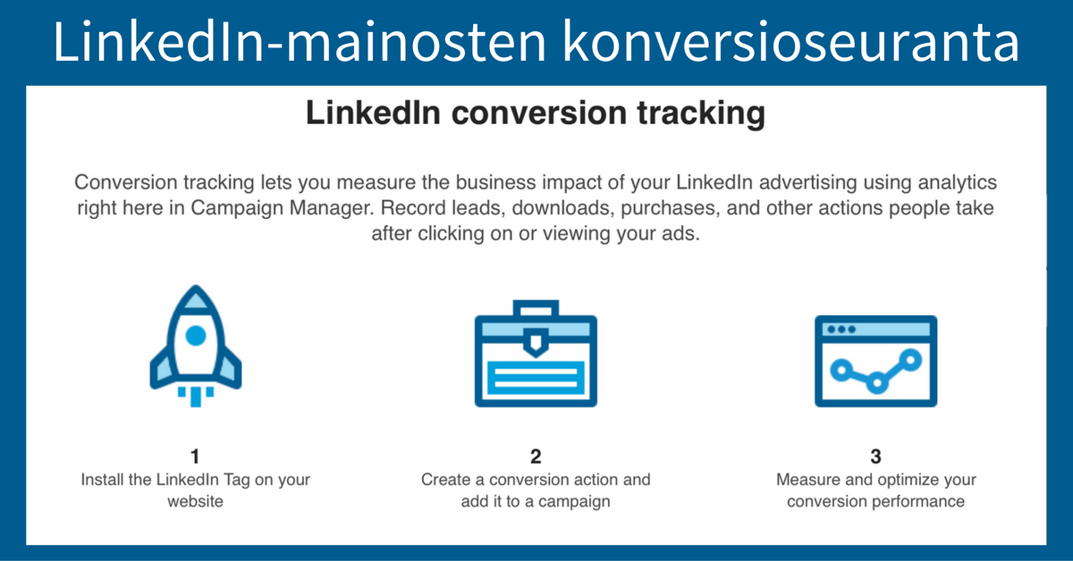 Linkedin-mainosten konversioseuranta