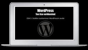 wordpress tee itse verkkosivut