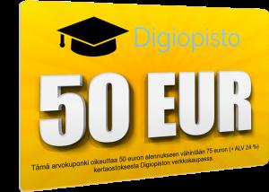 Digiopisto 50 euron alennuskuponki