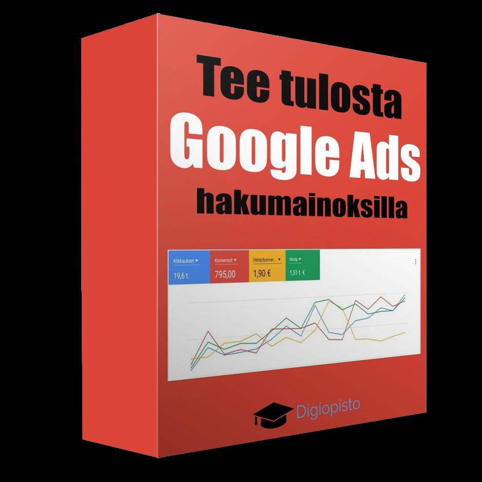 Tee tulosta Google Ads -hakumainoksilla