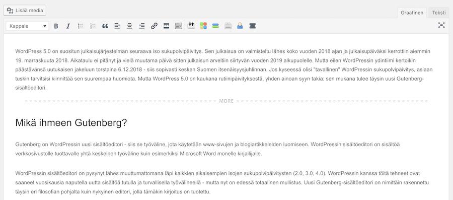 wordpress-sisältöeditori