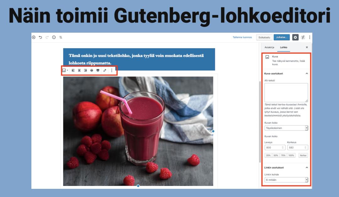 Esittely: Näin toimii WordPress Gutenberg-lohkoeditori