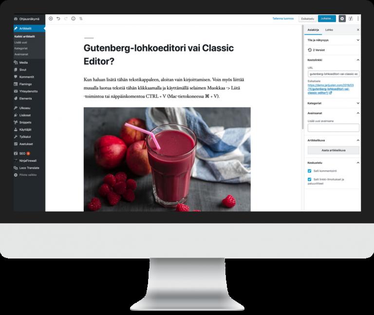 WordPress-koulutus sisällön tuottajille