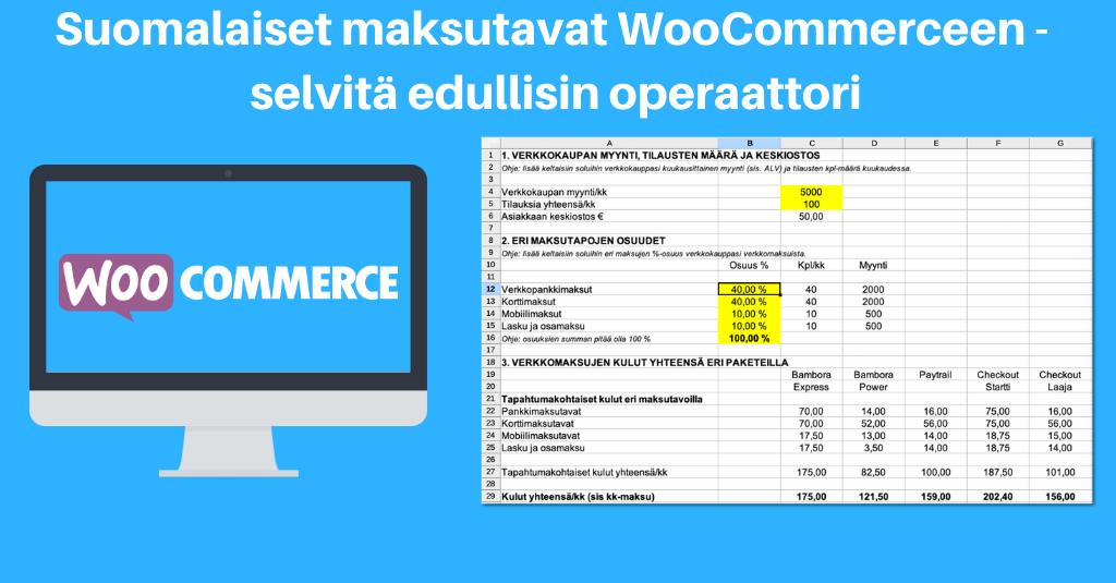 Suomalaiset maksutavat WooCommerceen - selvitä edullisin operaattori