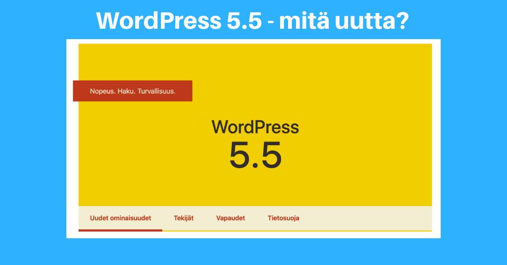 WordPress 5.5 - mitä uutta?