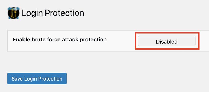 Ninja Firewall brute force -hyökkäysten esto ei ole käytössä