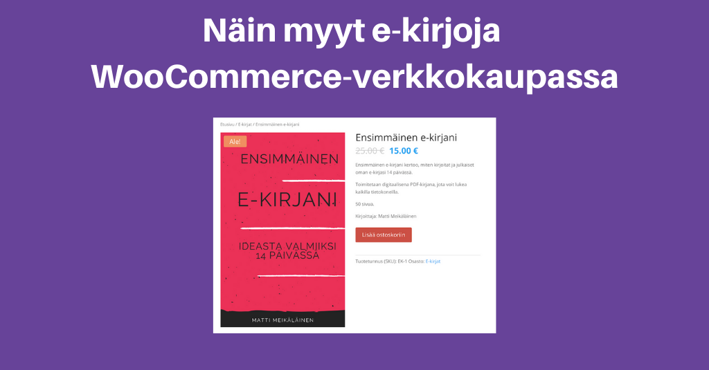 Näin myyt e-kirjoja WooCommercella
