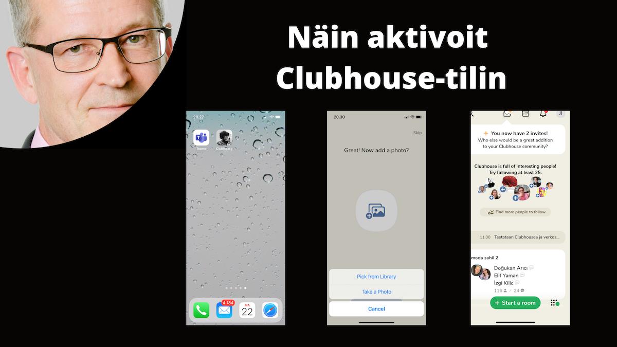 Clubhouse-tilin aktivointi